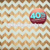 CLEARANCE - VINYL - 8ft x 6ft Light Blue Chevron Photography Backdrop - Chevron Over Wood Floor Drop - Exclusive Design - Item 1981