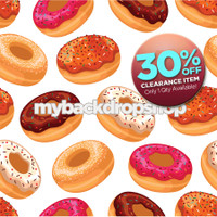 CLEARANCE - VINYL - 4ft x 4ft Childrens Photography Backdrop Prop - Fun Idea for Kids Photoshoots - Donut Theme Vinyl or Poly Background - Item 786a