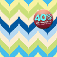 CLEARANCE - VINYL - 3ft x 3ft Chevron Photography Backdrop - Boys Backdrop - Blue and Green Chevron Print Photo Back Drop - Item 1292
