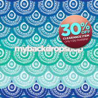 CLEARANCE - VINYL - 6ft x 6ft Ocean Water Photography Backdrop - Beach Backdrop for Photos - Summer Photo Back Drop - Item 1124