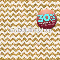 CLEARANCE - VINYL - 4ft x 4ft Gold Glitter Chevron Photography Backdrop - Gold Sparkle Photography Backdrop – Item 2166