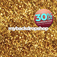 CLEARANCE - VINYL - 6ft x 5ft Gold Glitter Photobooth Backdrop - Prom Picture Photoshoot Background - Vinyl Photography Drop - Item 655