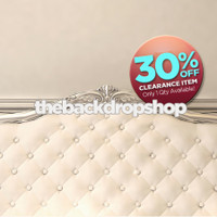 CLEARANCE - VINYL - 5ft x 5ft White Headboard Backdrop for Photography - Fancy Bed Backdrop - Boudoir or Children's Photoshoot Back Drop - Item 1569