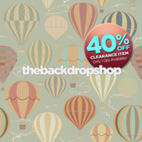 CLEARANCE - POLY - 5ft x 5ft Hot Air Balloon Photography Backdrop - Kids Photoshoot Wallpaper Background - Item 505