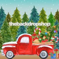 Christmas Truck Holiday Photography Backdrop - Item 5002