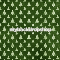 Green Christmas Tree Photography Backdrop - Item 5004