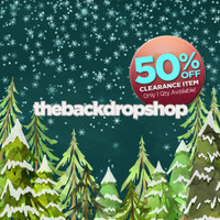 CLEARANCE - VINYL - 8ft x 8ft Falling Snow Flakes Photography Backdrop - Christmas Tree Holiday Backdrop - Vinyl Photography Backdrop - Item 5009