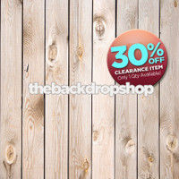 CLEARANCE - POLY - 5ft x 6ft Weathered White Wood Photography Backdrop - Whitewashed Wood Plank Floor Drop for Photos - Item 157