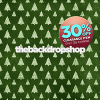 CLEARANCE - POLY - 5ft x 5ft Green Christmas Tree Backdrop for photos - Christmas Holiday Backdrop - Photography Backdrop - Item 5004