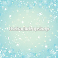 Blue Bokeh Vinyl Photography Backdrop - Twinkle Photo Background - Item 102