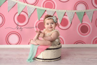 Fun Pink Polka Dot Studio Backdrop - Item 146