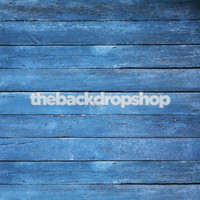 Blue Painted Slatted Wood Backdrop - Blue Photo Background  - Item 166