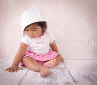 Pink Wallpaper Photography Backdrop - Newborn Girl Studio Prop  - Item 169