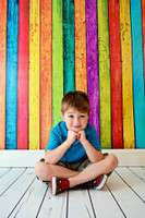Rainbow Painted Wood Panel Backdrop or Floordrop - Kids Portrait Prop - Item 204