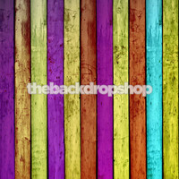 Colored Wood Wall Floor Drop - Item 210
