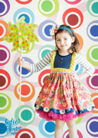 Bright Colored Circle Print Backdrop - Item 240
