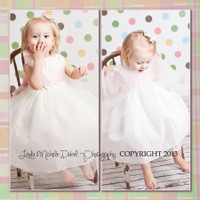 Fun Childrens Portable Portrait Backdrop - Polka Dot Studio Background - Item 292