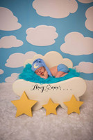 Cute Childrens Backdrop for Portrait Photography - Clouds in the Sky  Background for Photos - Item 329