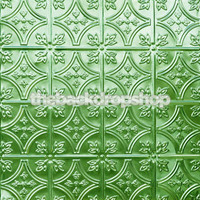 Green Tin Tile Pattern Photography Backdrop - Item 346