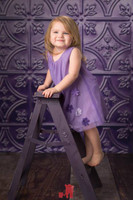Tin Ceiling Photography Backdrop - Purple Metal Tile Backdrop or Floor Drop for Photos - Item 349