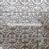 Silver Tin Ceiling Photography Floordrop or Background - Fake Tile Floor for Pictures - Item 350