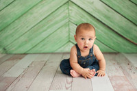 Green Wood Plank Floor Drop or Backdrop - Item 357