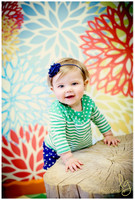 Geometric Floral Photography Backdrop - Item 377
