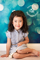Blue Bokeh Photogaphy Backdrop - Glitter and Twinkling Lights Background for Pictures - Item 401