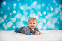 Blue Twinkle Lights Backdrop for Portrait Sessions - Sparkle Confetti Photography Backdrop - Item 403