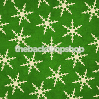 Solid Green Snowflake Photography Background - Item 406