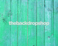 Turquoise Wood Plank Floor Photography Prop - Wood Siding  Photo Backdrop - Item 418