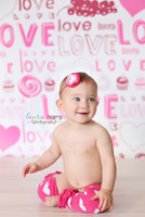 Valentine Studio Photography Backdrop - Young Girls Photo Session Prop - Item 436
