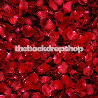 Red Rose Petal Floor Drop for Baby Portraits - Item 438