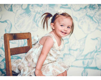 Blue Floral Photo Backdrop for Newborns - Item 443