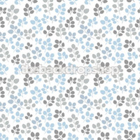 Blue and Gray Flower Print Background for Pictures - Item 485