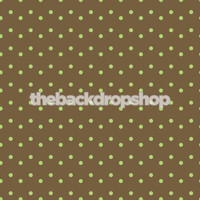 Brown Background for Newborn Photoshoots - Mint Green Polka Dot Backdrop -  Photography Back Drop - Item 597