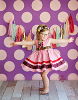 Pink Polka Dot Photography backdrop for Girls - Item 610