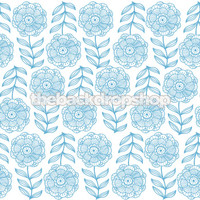 Shabby Blue Floral Wallpaper for Photoshoot -  Photography Backdrop for Less - Item 613