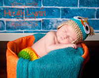 Blue Brick Floor Mat or Backdrop for Baby Photography - Newborn Boy Photography Prop - Item 632