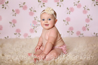 Light Pink Rose Baby Girl Photography Backdrop - Item 682