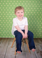 Green Polka Dot Photo Backdrop - Item 758