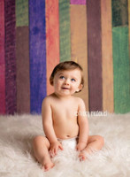 Rainbow Wood Backdrop Floordrop - Item 782