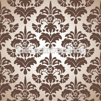 Large Brown Damask Pattern Backdrop - Item 799