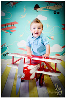Prop for Childrens Photoshoots - Airplane Backdrop for Kids Photography Photo Sessions - Item 801