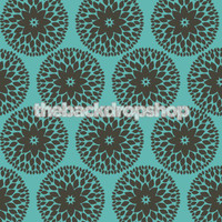 Modern Blue Floral Wallpaper Background - Item 805