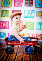 Alphabet Backdrop for Kids Photographs - Fun Childrens Photoshoot Prop -  Photo Background - Item 818