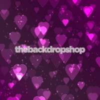 Purple Bokeh Heart Backdrop for Photographers  - Item 849
