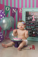 Pink and Blue Striped Photography Backdrop - Item 878