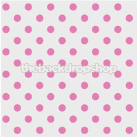 Pink Polka Dot Pattern Photo Backdrop  - Item 948
