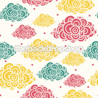 Cloud Wallpaper Backdrop for Children - Item 951